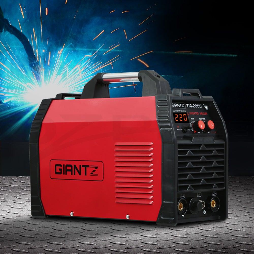 Giantz 220 Amp Inverter Welder TIG MMA ARC DC Gas Welding Machine Stick Portable
