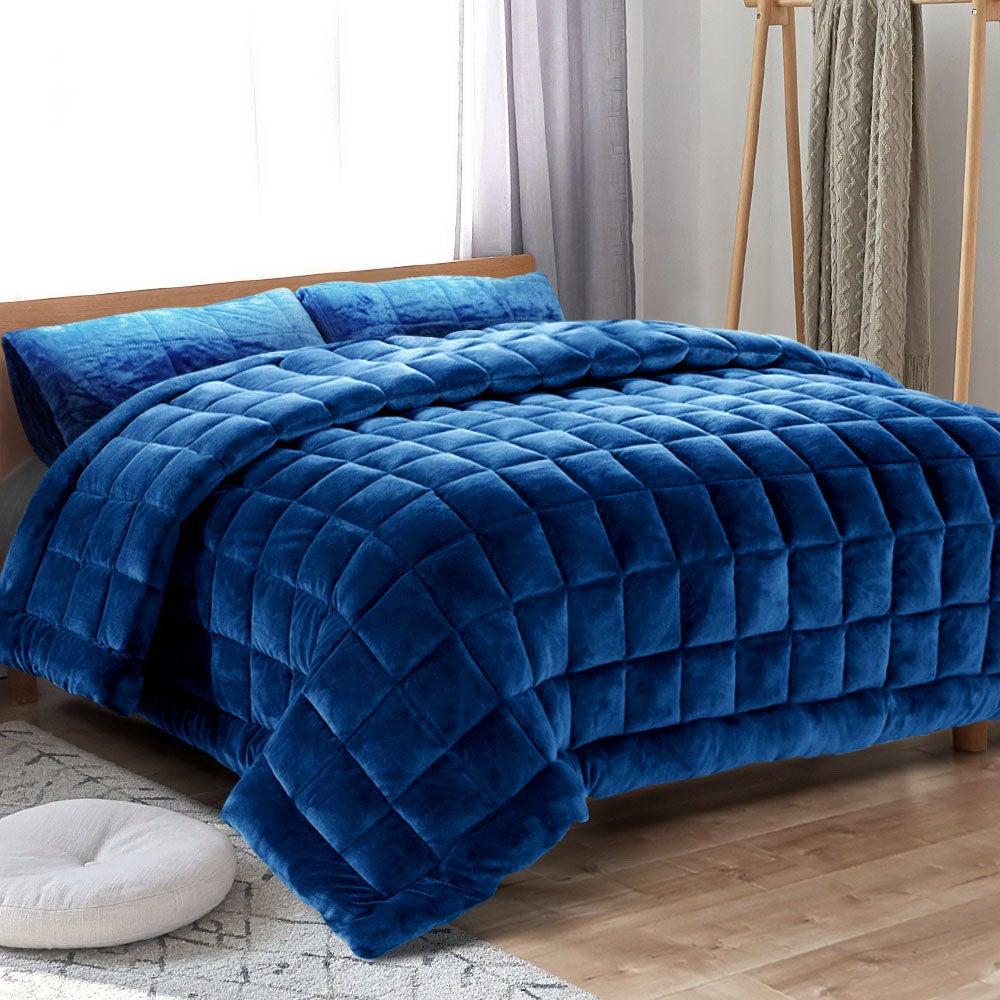 Giselle Faux Mink Quilt Comforter Set King