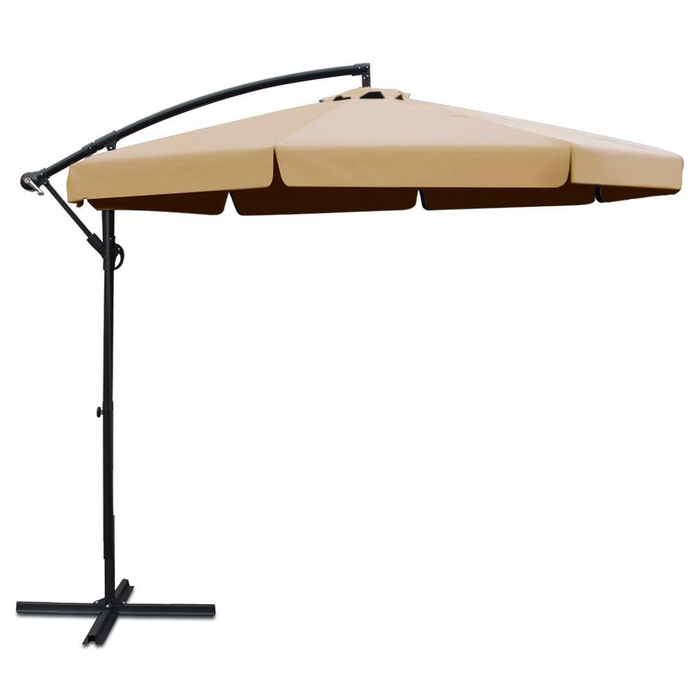 Instahut Outdoor Umbrella 3M Beige