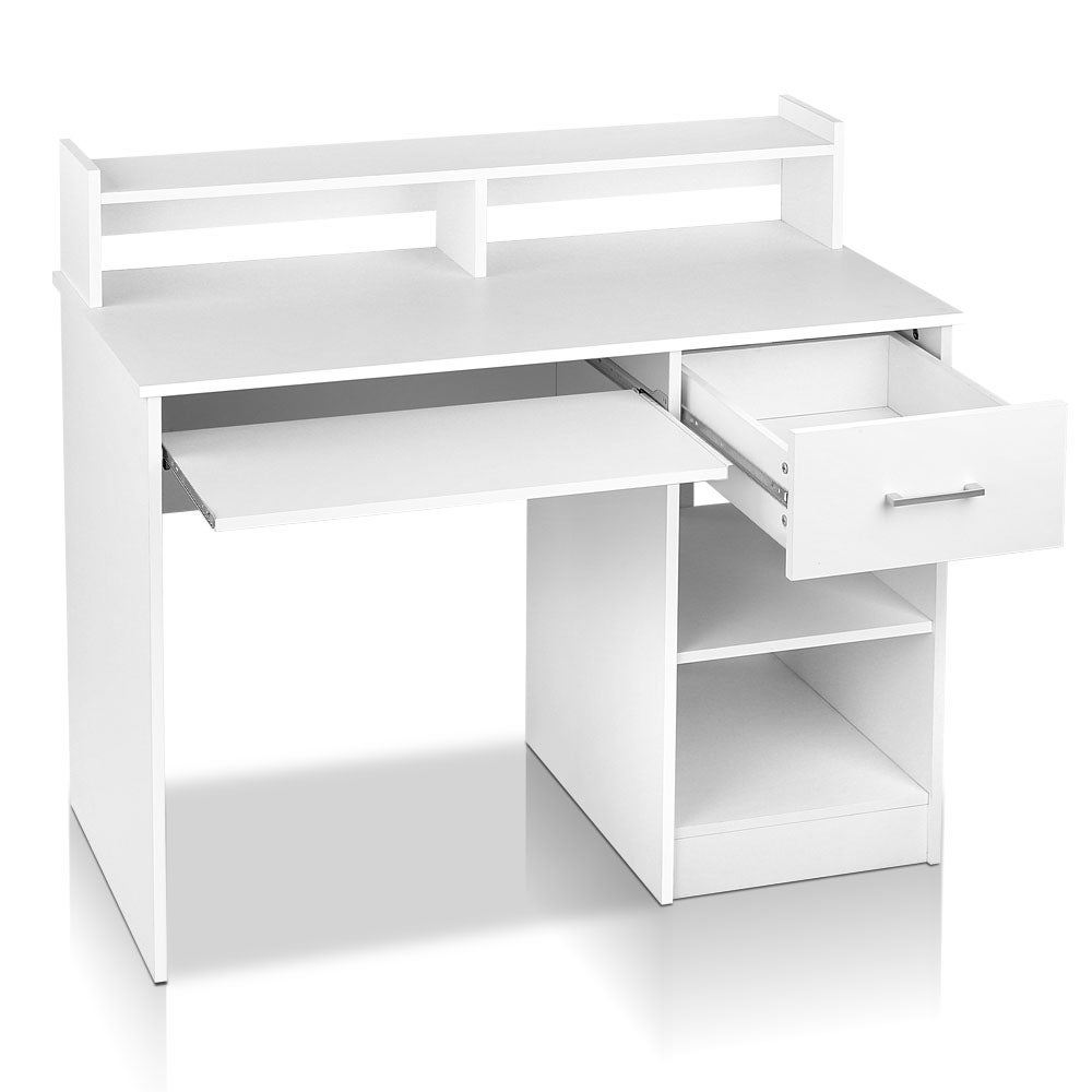 Artiss Office Computer Desk With Keyboard Tray White