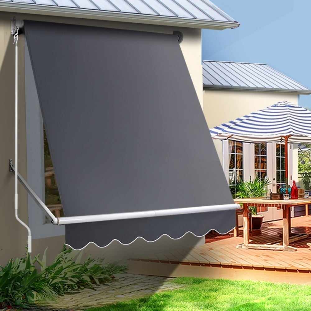 Retractable Fixed Pivot Arm Window Awning Patio Blinds 1 ...