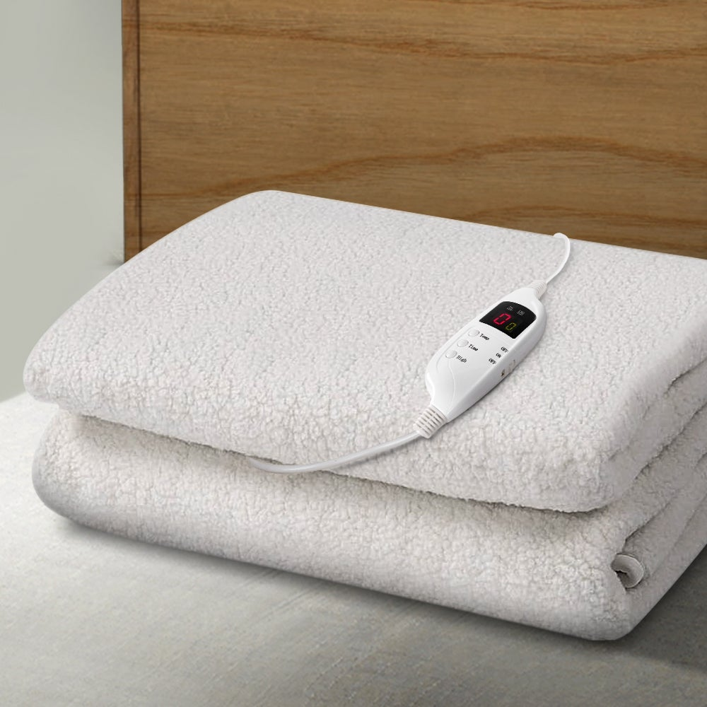 Giselle Heated Electric Blanket Washable Single