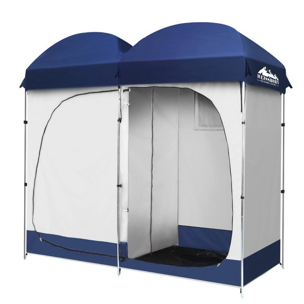 Double Camping Shower Toilet Tent Portable Change Room Ensuite