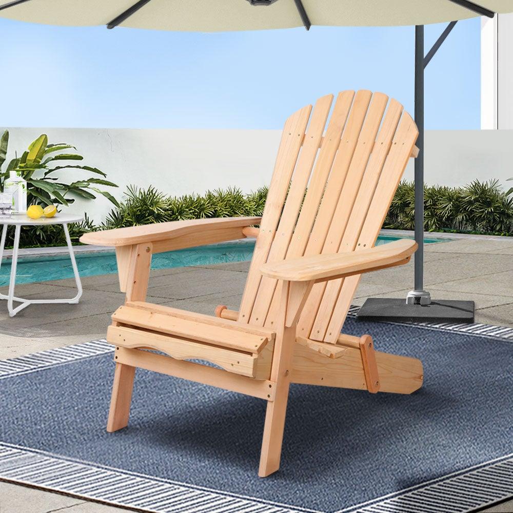 Outdoor Chairs Patio Furniture Wooden Beach Adirondack Garden Indoor