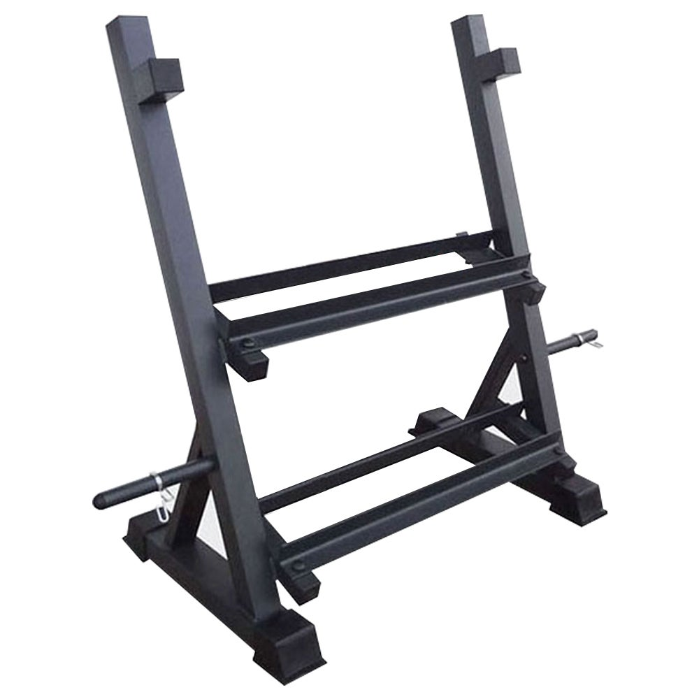 Heavy Duty 3 Tier Dumbbell Barbell Rack Storage Racking Space Saving Home Gym 300KG