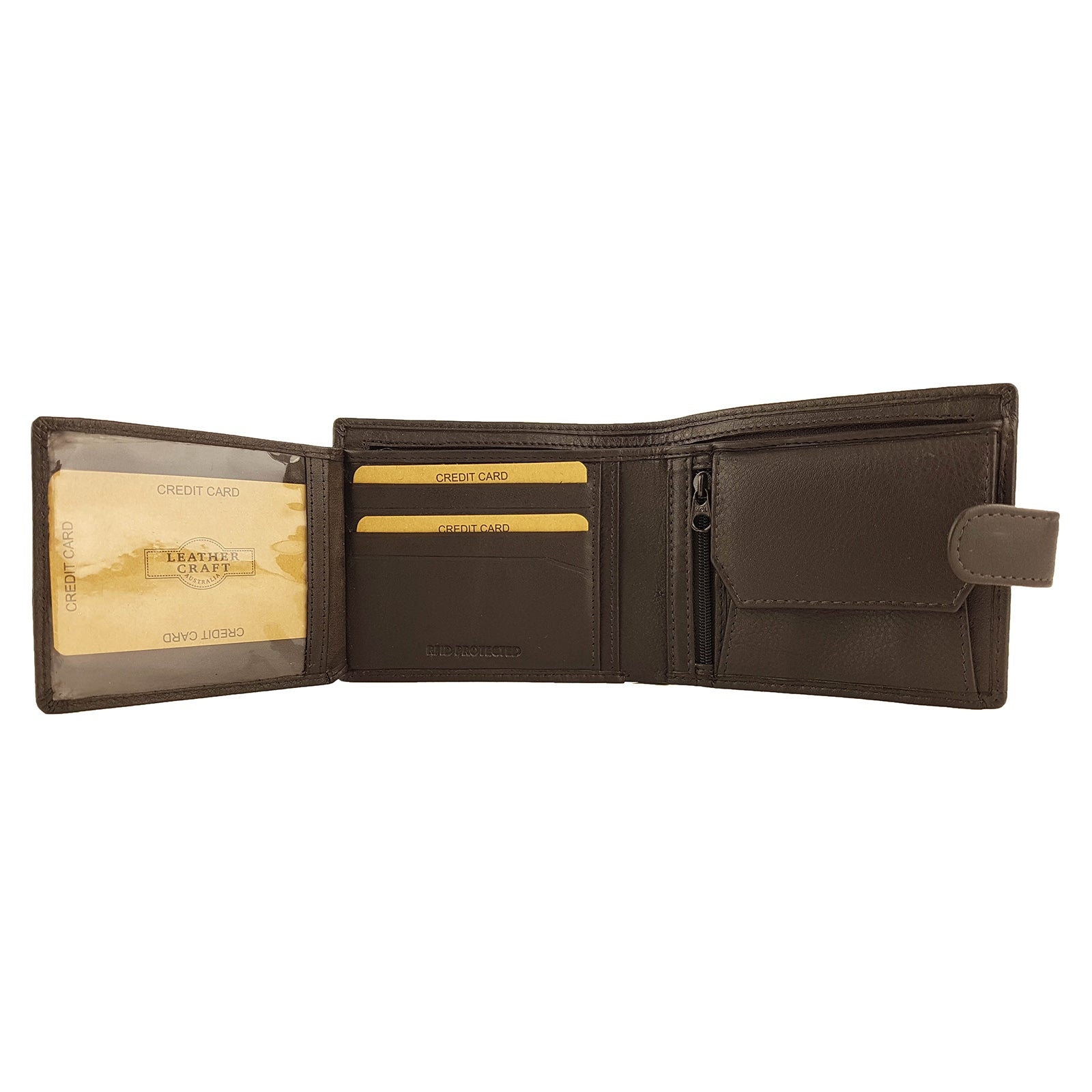 Brown Mens Cowhide Leather Wallet