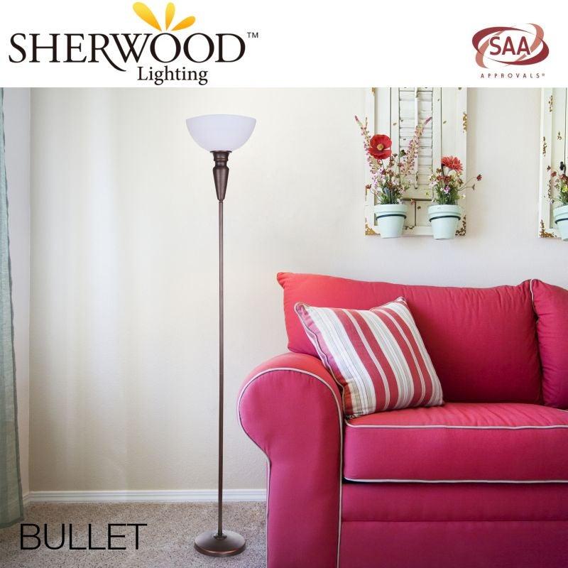 Bullet Metal Floor Lamp with Bronze Base