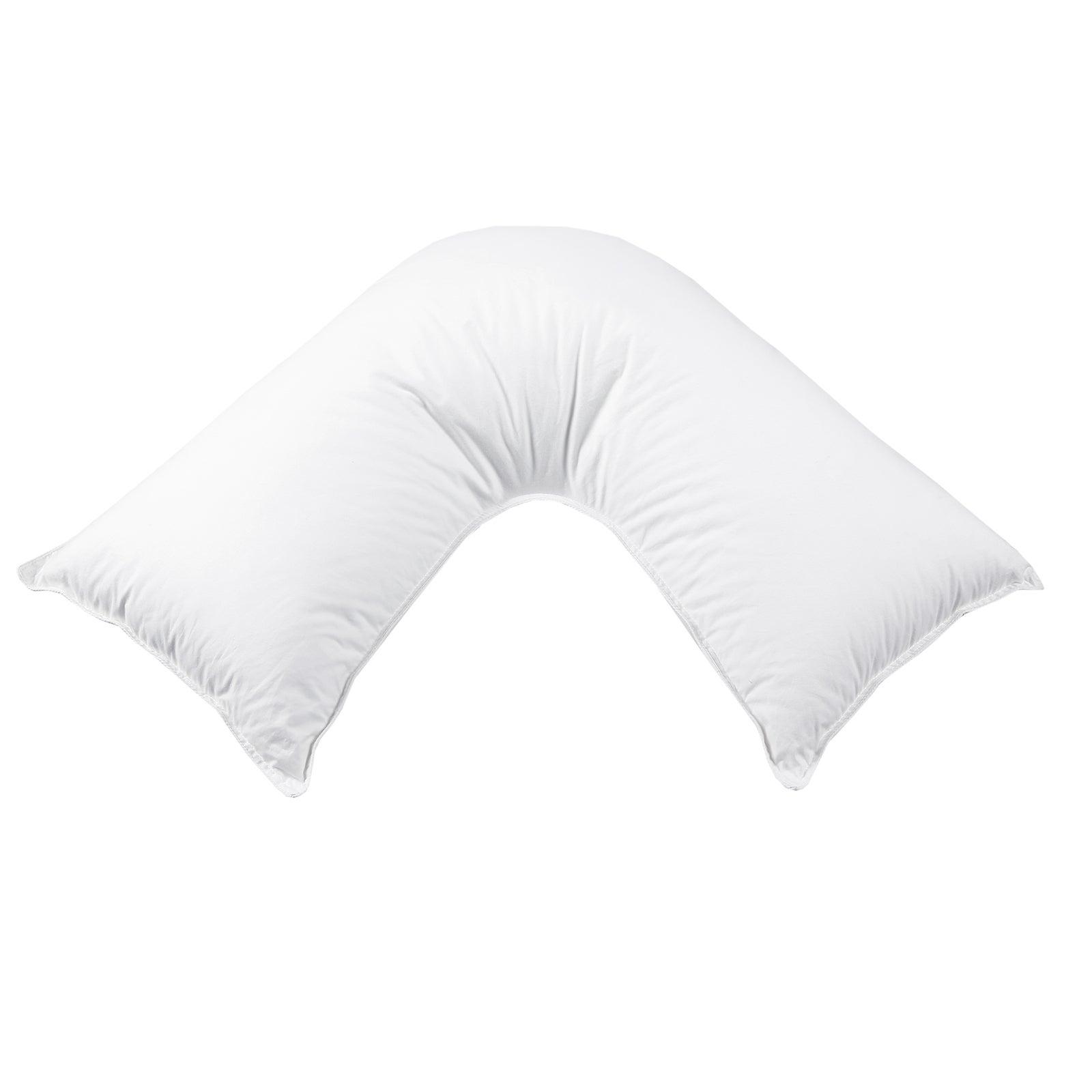 Dreamaker Down Alternative Microfibre V Shape Pillow - 78 X 78 Cm