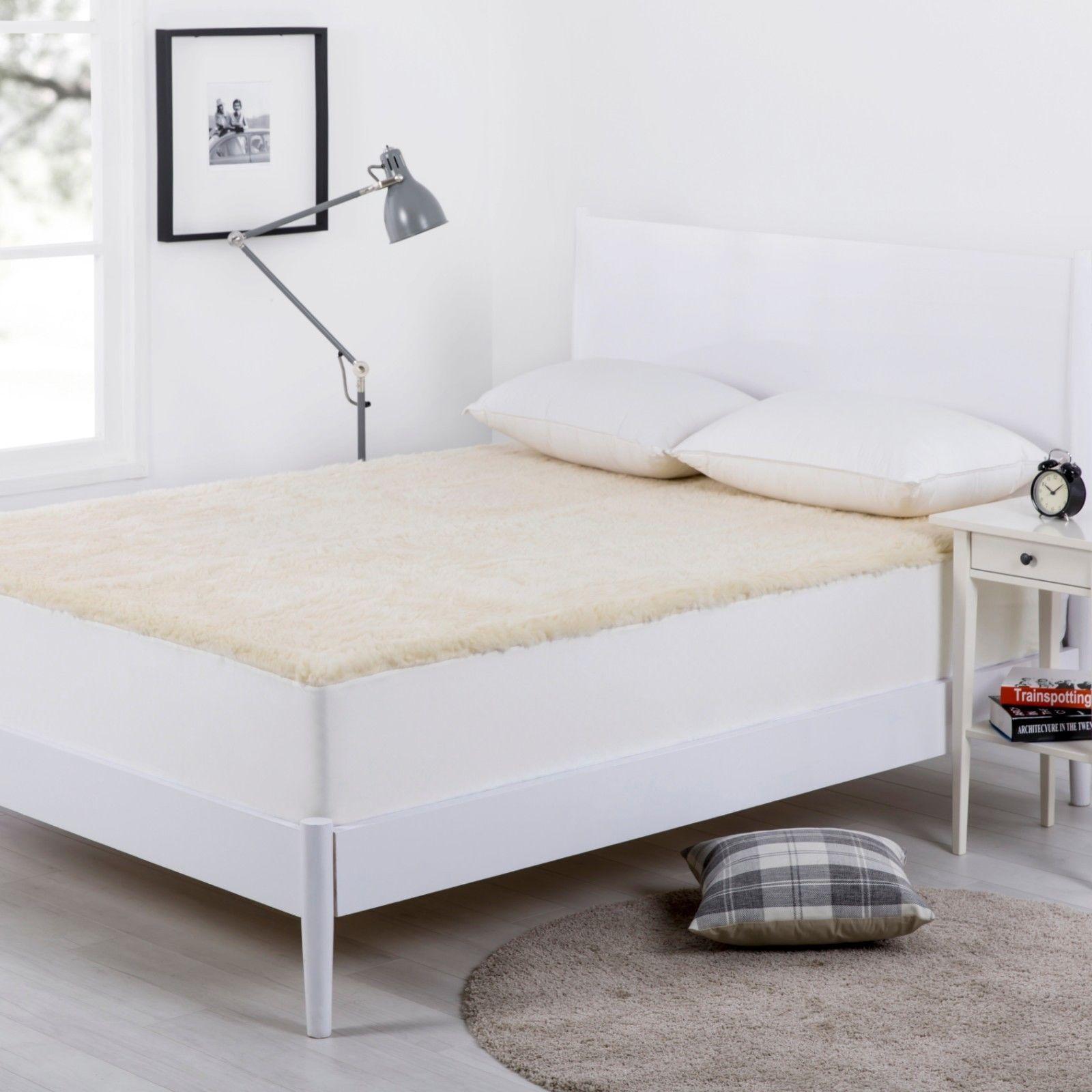 Wooltara 350Gsm Washable Alpaca Wool Fleece Underlay - King Bed