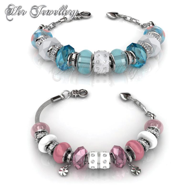 Charm Bracelet Bundle Set (Blue + Pink)