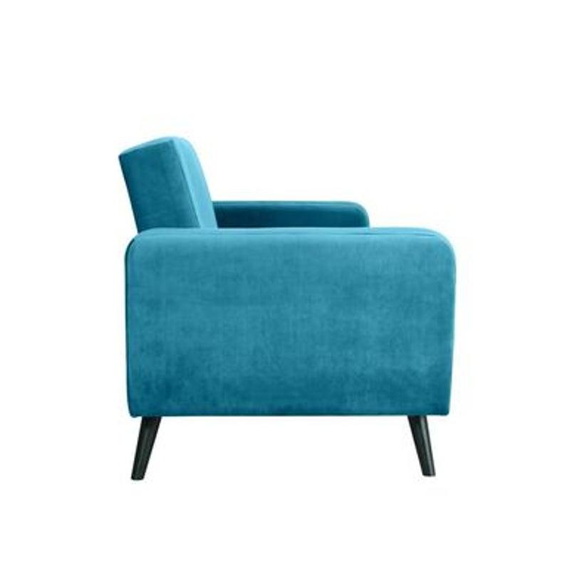 Esben 3 Seater Velvet Sofa Bed   Pastel Teal   Buy Sofas ...