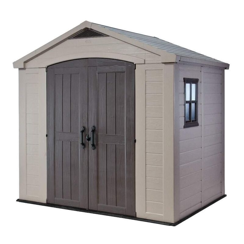 KETER FACTOR 8'x6' SHED 2.6mx1.8m