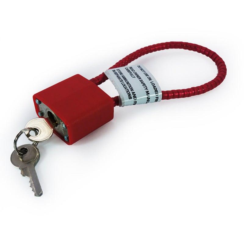 Gun Cable Lock - Gun Load Lock & Keys, 39Cm (for Safety, Pistol, Rifle, Shotgun)