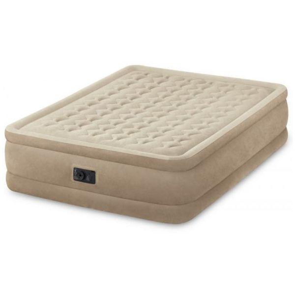 Intex Queen FibreTech Camping Air Mattress Bed 46cm