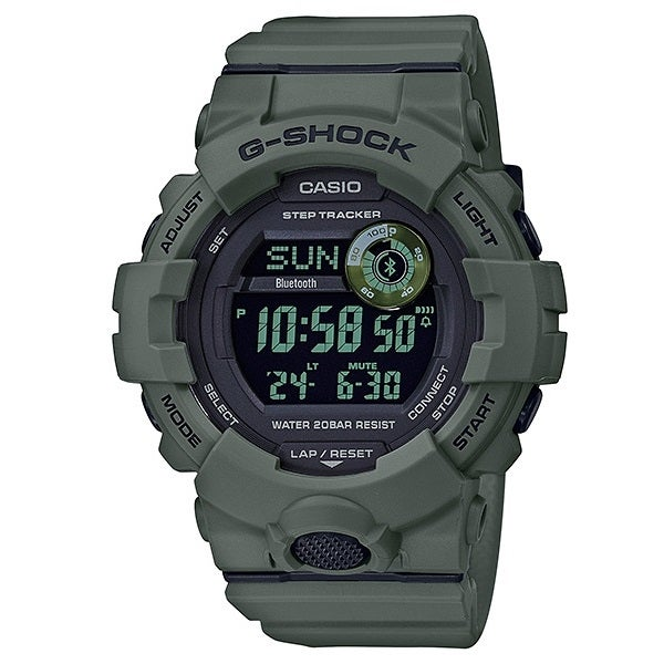 Casio G-Shock Digital Green Utility Bluetooth Mens Step Tracker Watch GBD800UC-3