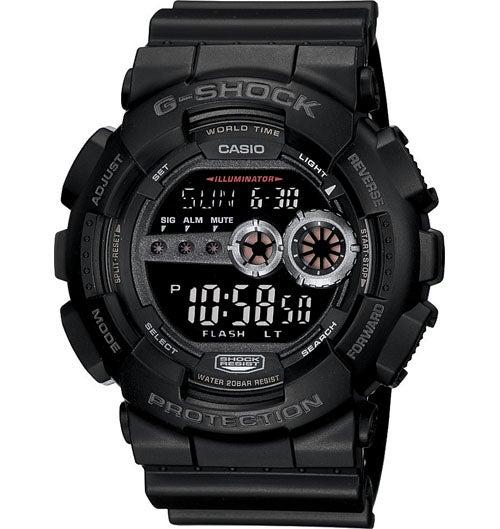 Casio G-Shock Digital Mens Black X-Large Watch GD100-1B GD-100-1BDR