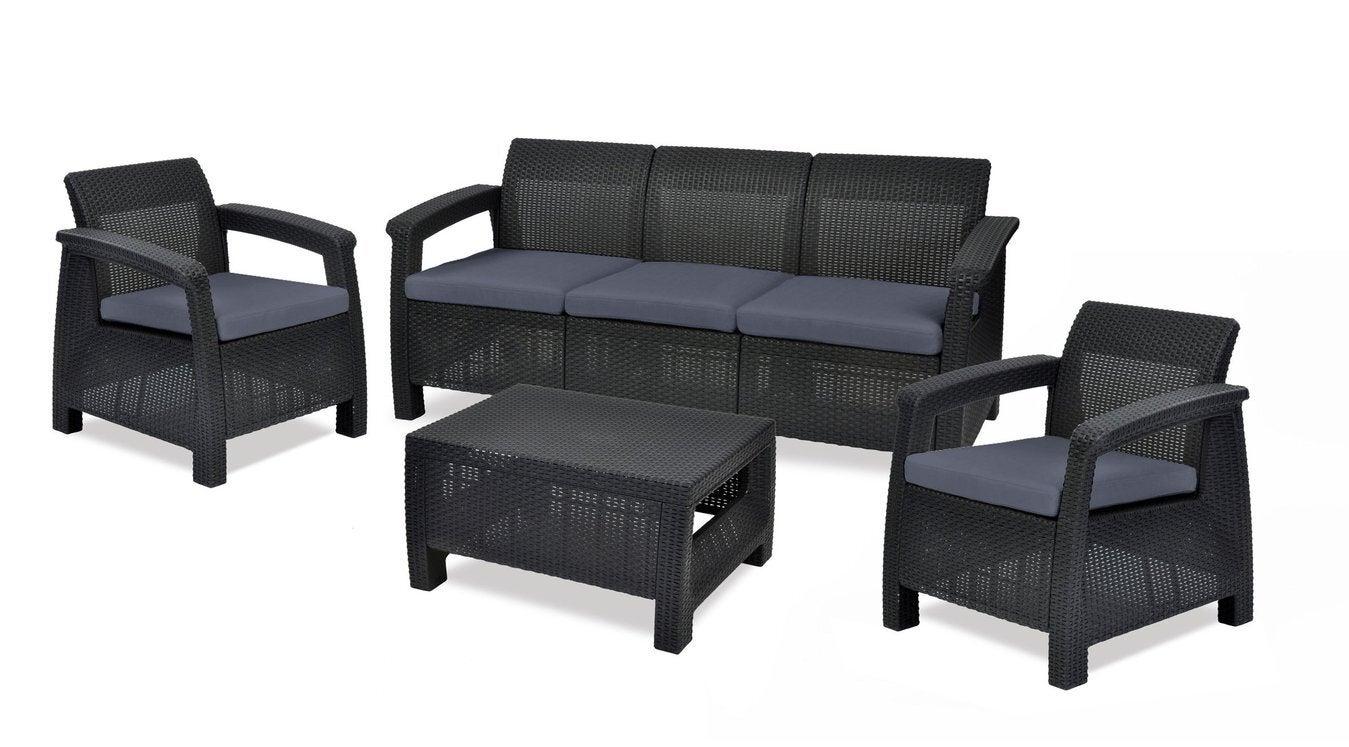 Keter Corfu Outdoor Five Seater Lounge Set