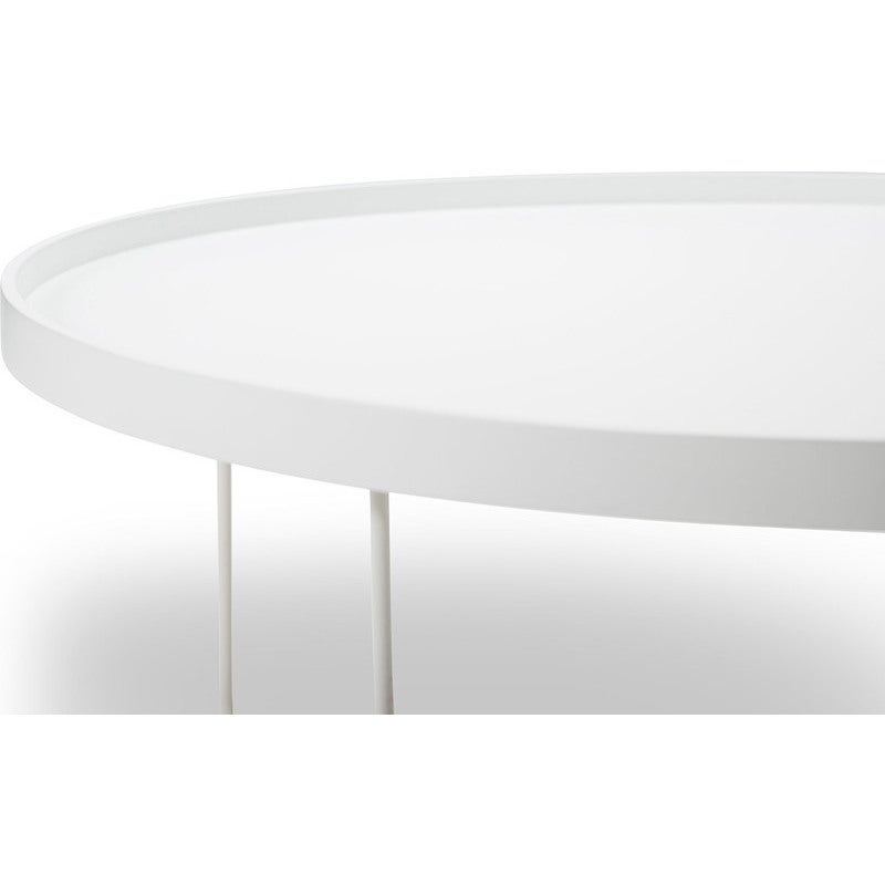 Tray Top Round Coffee Table W Metal, Coffee Table Tray Round White