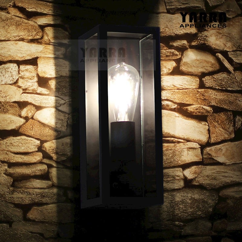 Emily Outdoor/Indoor Vintage Wall Sconce Light Lamp Stainless Steel Porch Yard-Black