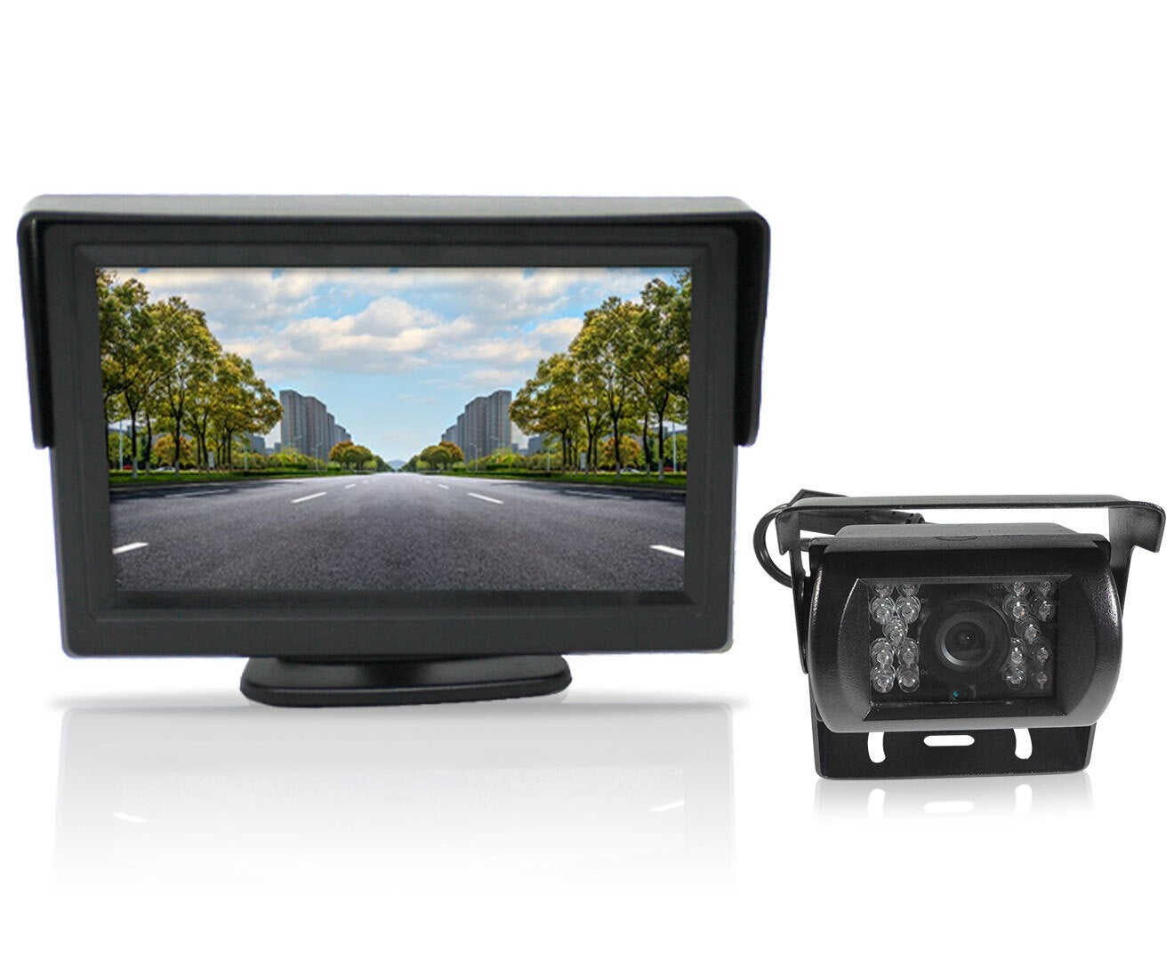 """4.3"""" Monitor+24v/12v CCD LED Reversing Camera Car Caravan Truck Night Vision"""