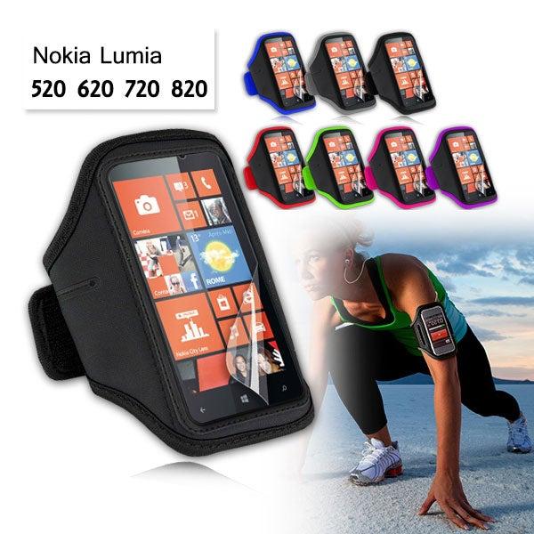 EZcool Gym Running Sport Armband for Nokia Lumia 720 Bonus Screen Protector