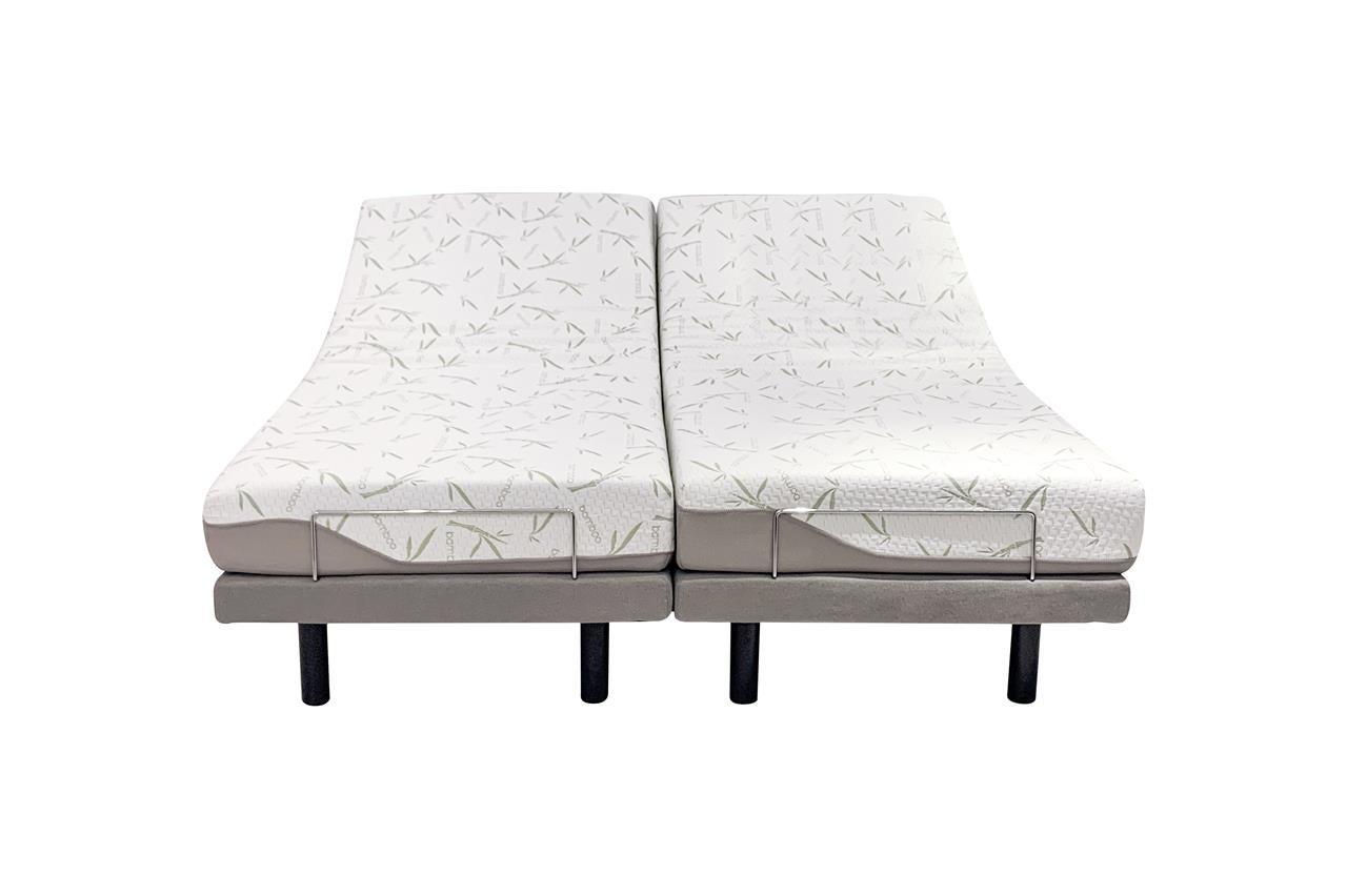 ComfortPosture Split King Electric Adjustable Bed German OKIN motors, with Memory Foam Mattress