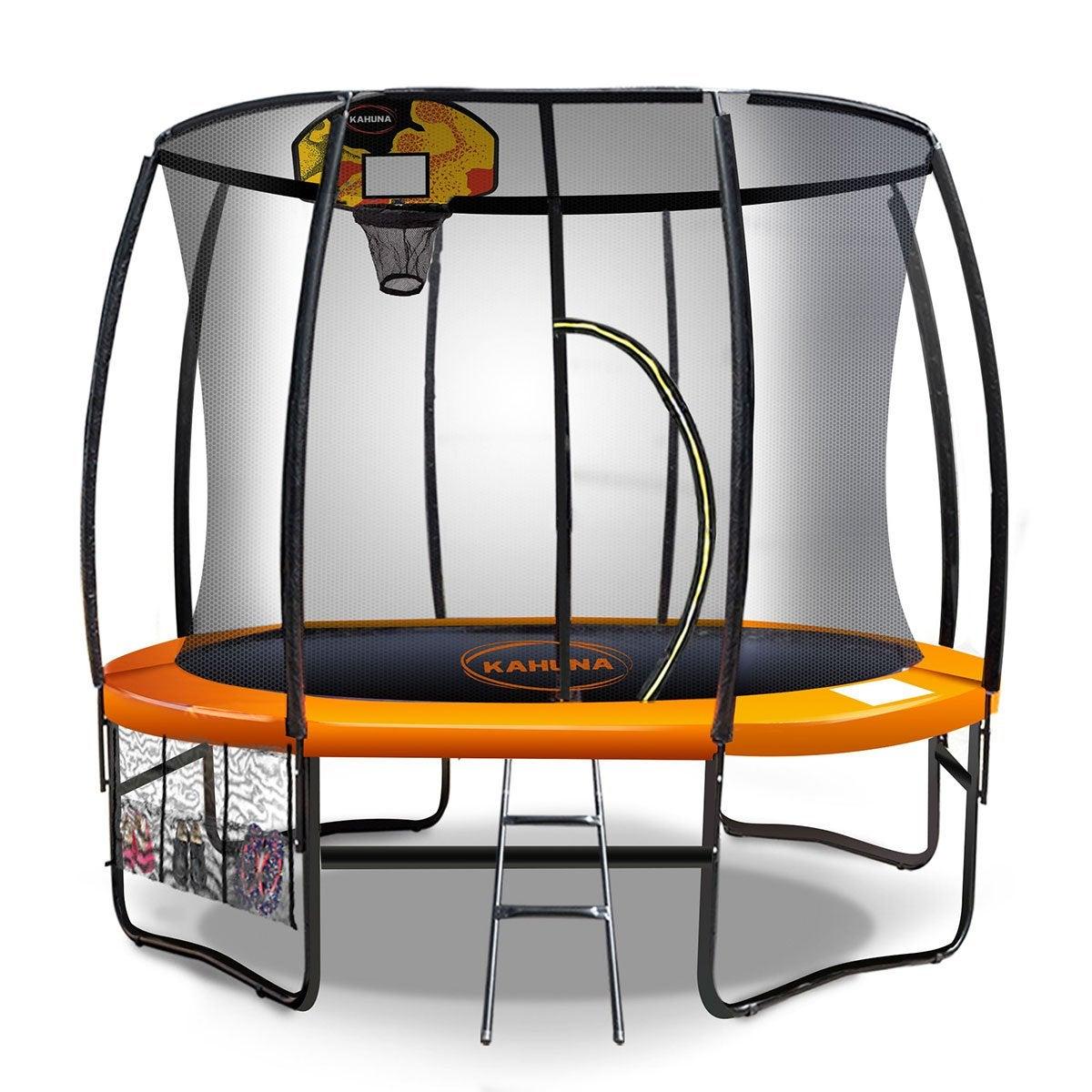 Kahuna 10ft Trampoline Free Safety Net Mat Spring Pad Cover Mat Basketball Orange