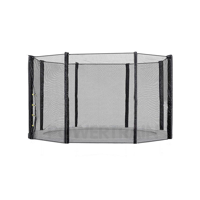 10ft Replacement Round Outdoor Trampoline Safety Net Enclosure 8 pole