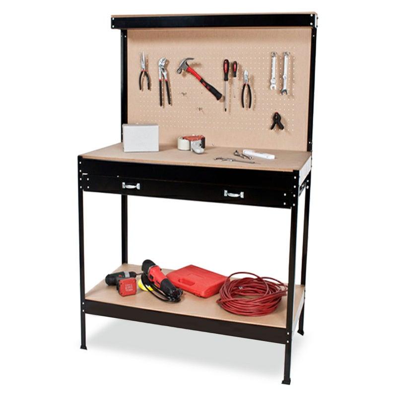 2-Layered Work Bench Garage Storage Table Tool Shop Shelf
