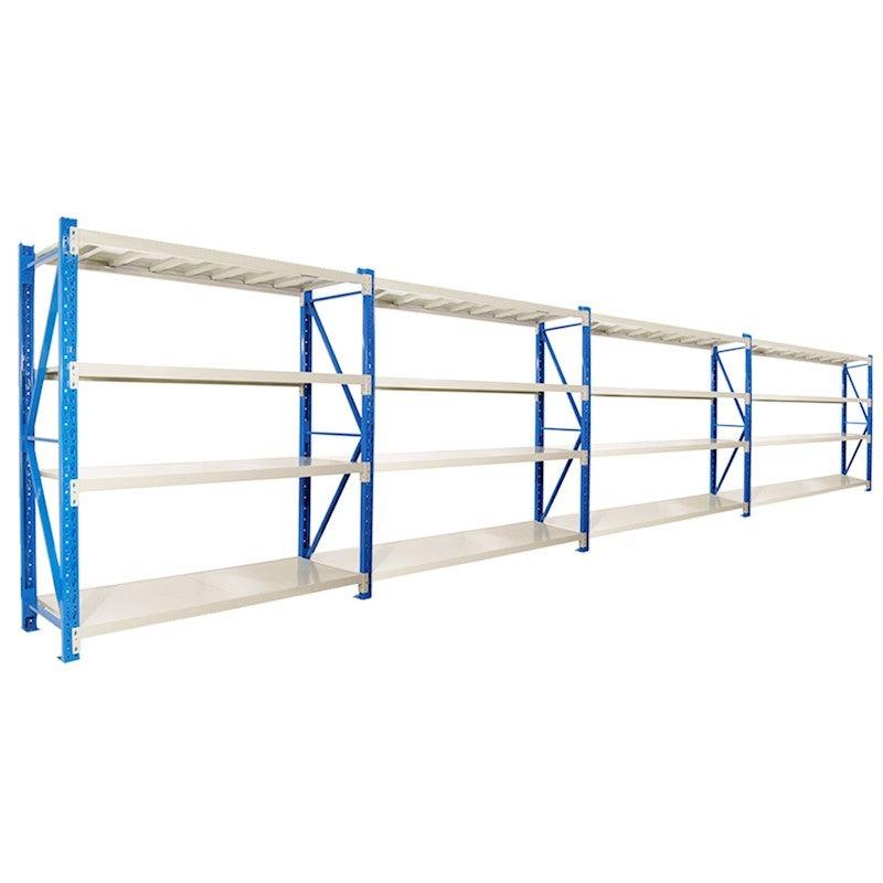 4-bay 800kg 8.0m Garage Warehouse Storage Shelving Steel Tool Racking Shelves