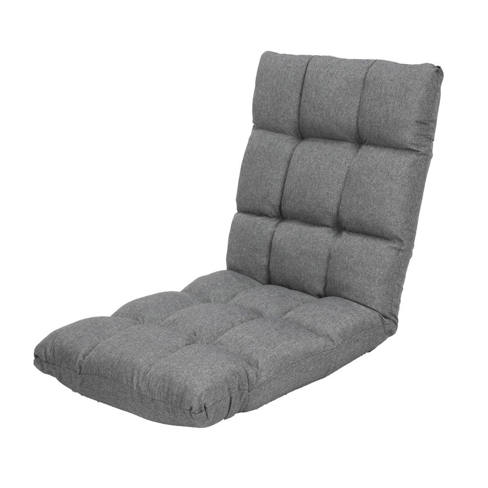 Adjustable Cushioned Floor Gaming Lounge Chair 99x41x12cm - Dark Grey