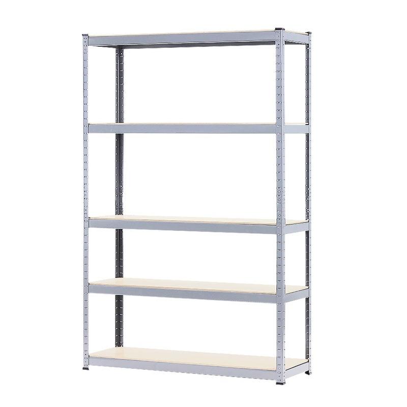 New 180x120x40cm 5 Shelf Garage Storage Rack Shelves Steel Shelving Racking