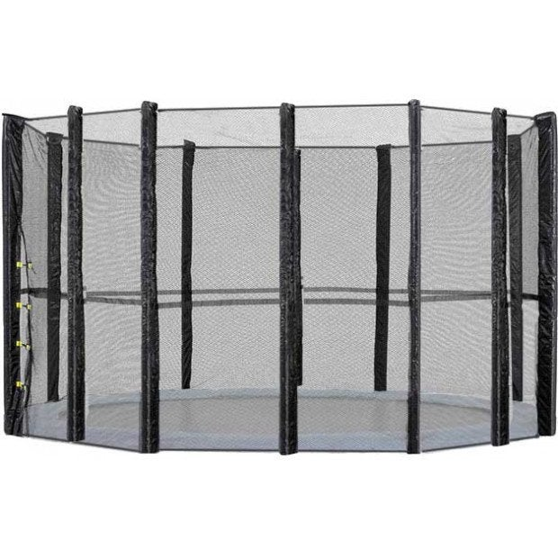 Green 14ft Replacement Outdoor Trampoline Safety Net And Spring Pad For 8 Post Green