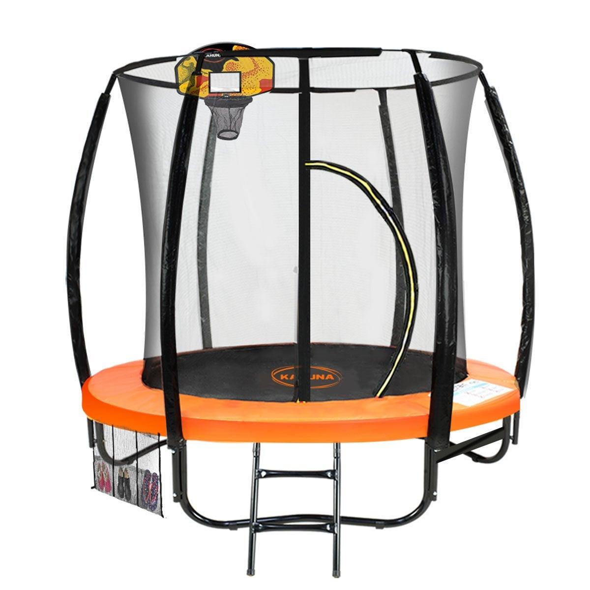 6ft Kahuna Trampoline Safety Net Spring Pad Cover Mat Free Ladder Basketball Set