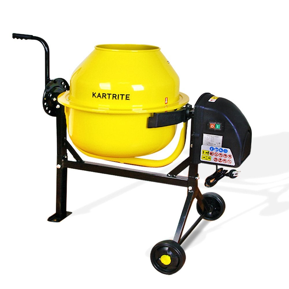63L Kartrite Portable Cement Concrete Mixer Electric Construction Sand Gravel
