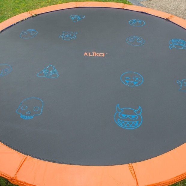 New Replacement Trampoline Spring Mat Round Outdoor Emoji Spring Loops 12ft
