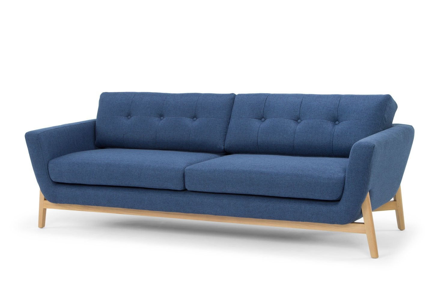 Helgrim 3 Seater Fabric Sofa - Navy