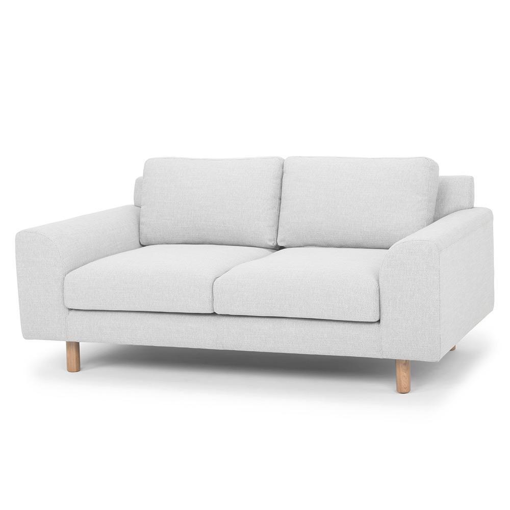 Sonia 2 Seater Fabric Sofa - Light Texture Grey