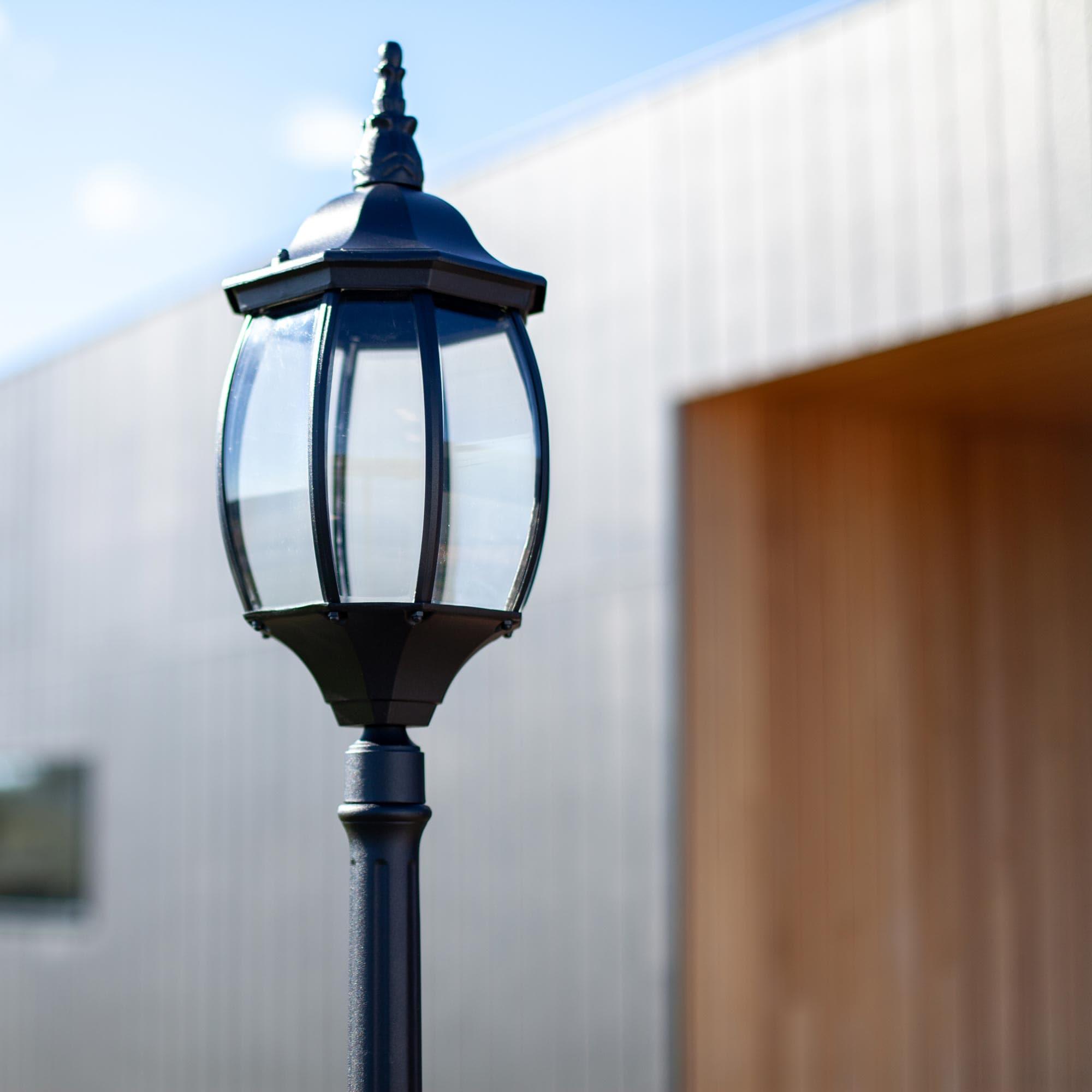 3 Pcs Street View Street Lamp Post Building Block Glow Component Decoration