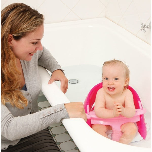 Deluxe Non Slip Foldable Baby Bath Seat in Pink