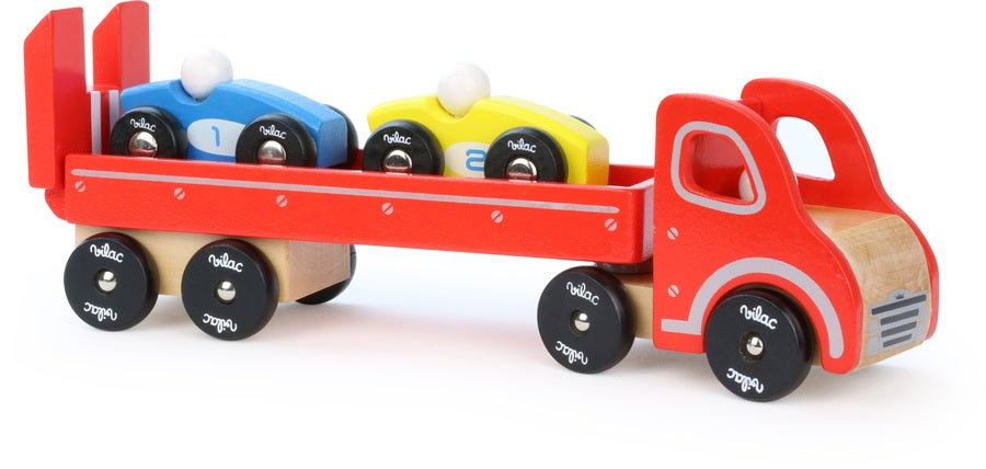 Truck & Trailer Set with 2 Cars