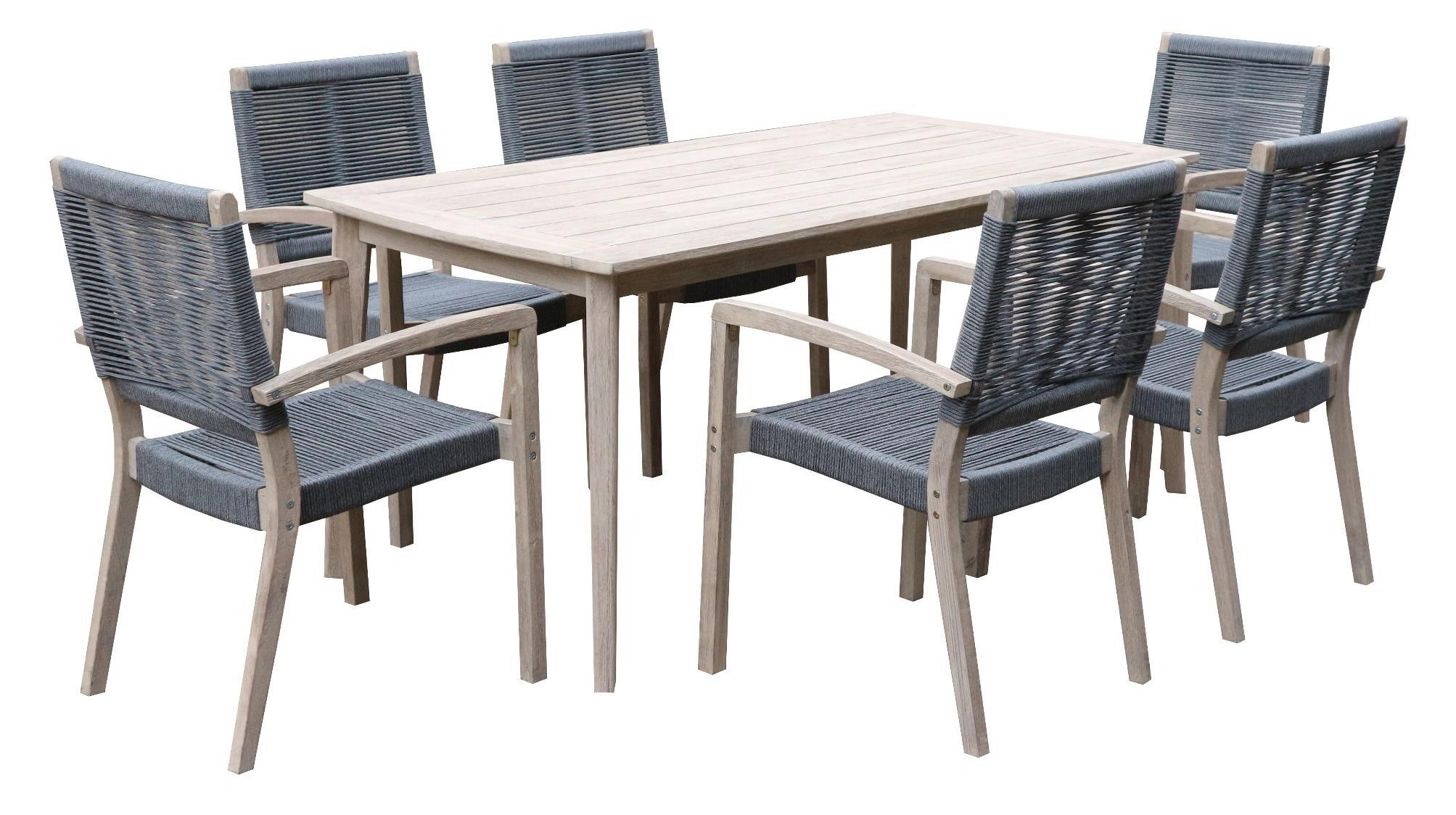 Hudson Timber and Marine Rope 6 Seat Dining setting