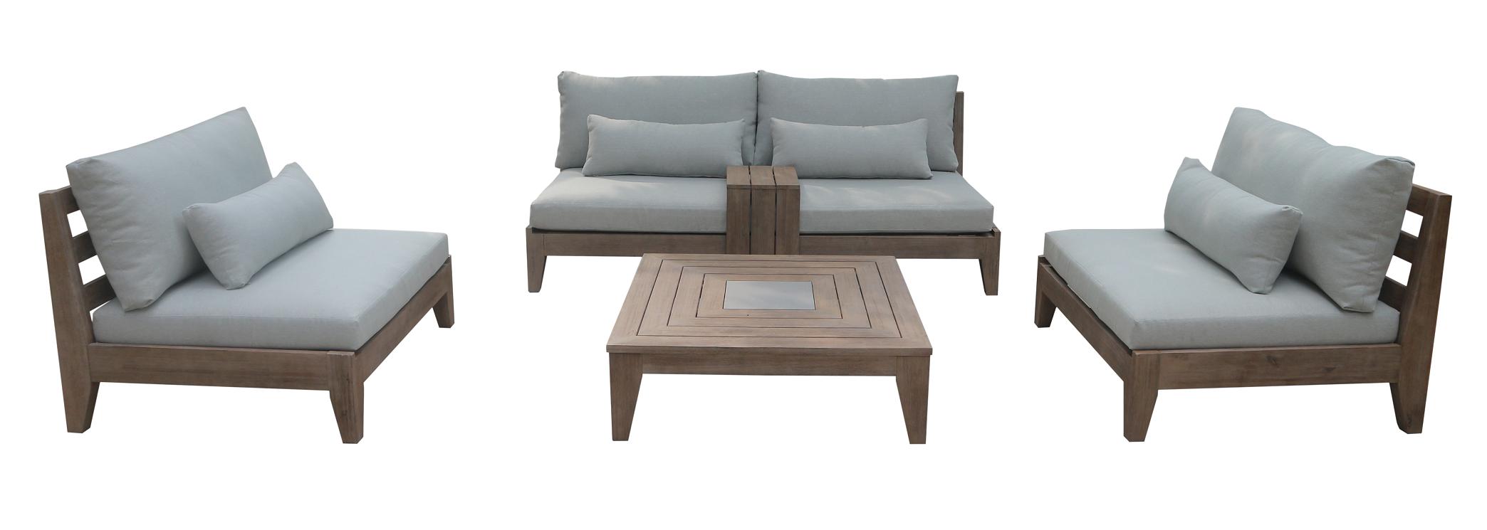 Oxford 5 Seat Chunky Timber Lounge