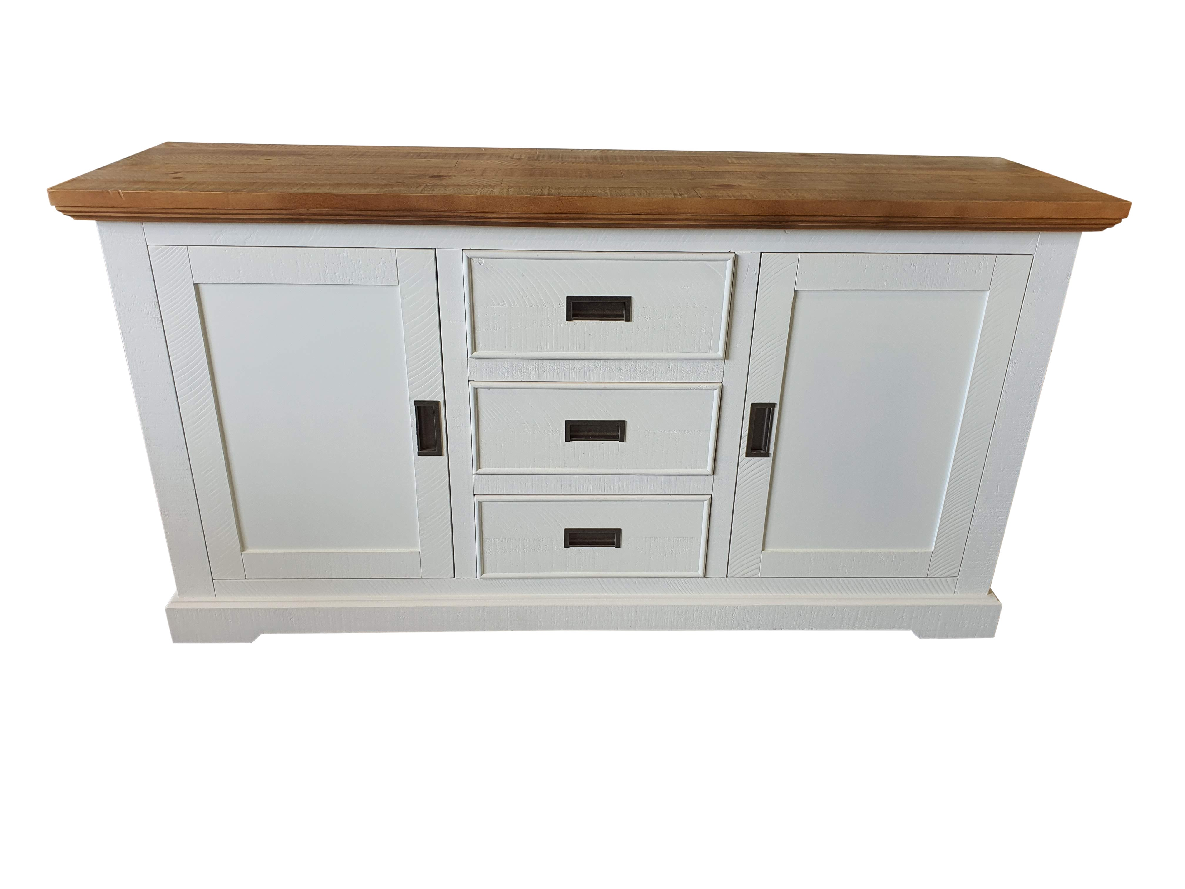 Hamptons Rustic White Timber Sideboard Buffet Cabinet - Realyn