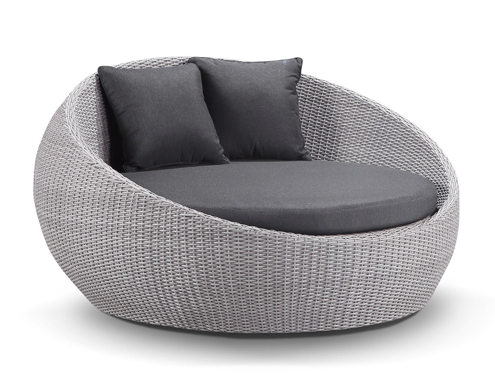 Newport Outdoor Round Wicker Daybed Without Canopy - Kimberly