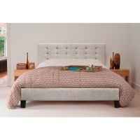 Overstock Clearance: Kensington Fabric Tufted Bed