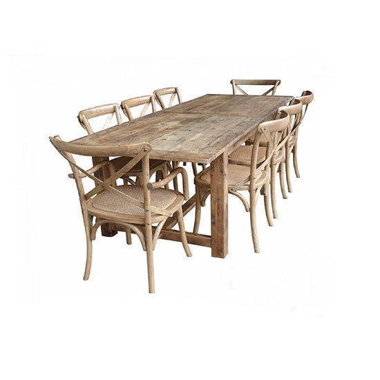 MF Provincial Natural Rustic Table 184cm