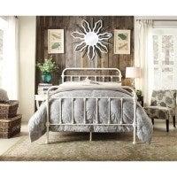 York King Single Modern Metal Bed Frame in White