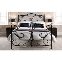 Rothesay Double Size Metal Bed Frame in Black