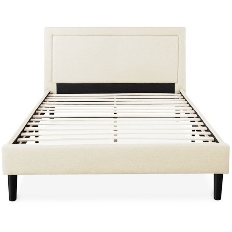 Portsmouth King Single Linen Fabric Bed Frame Beige